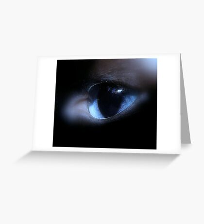 Window to soul Greeting Card