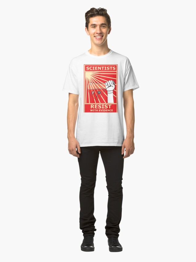 Alternate view of Scientists Resist Flask Classic T-Shirt