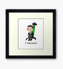 Mulder BELIEVES Framed Print