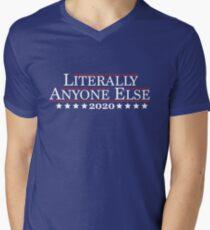 2020 - Literally Anyone Else Men's V-Neck T-Shirt
