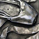 Pointe shoe  - ink by Rachelle Dyer