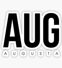 AUG - Augusta Airport Code Sticker