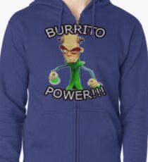 BURRITO POWER!!! Zipped Hoodie