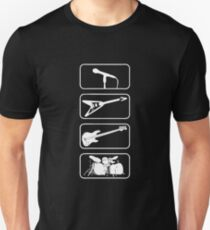 Rock Band Instruments Iconic T-Shirt
