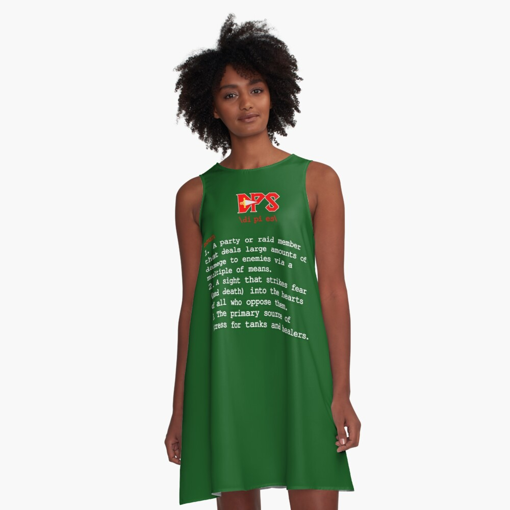 Dps Definition Dps Meaning Funny Gaming Shirt A Line Dress By Karon2345 Redbubble