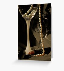 SHE WORE PEARLS Greeting Card