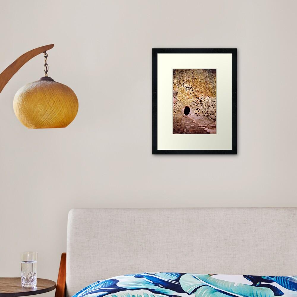 Living rock Framed Art Print