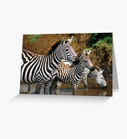 Striped Family Greeting Card