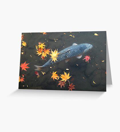 Autumn koi Greeting Card