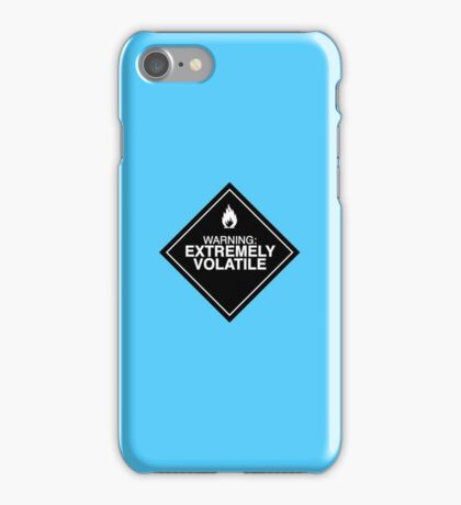 Extremely Volatile warning sign iPhone Case/Skin