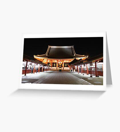 Sensoji late at night Greeting Card