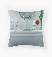 Tulip in the Loo Throw Pillow