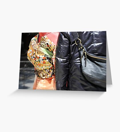 Silk and Leather Greeting Card