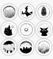 Mushrooms and Witchery - Sticker Set II Sticker