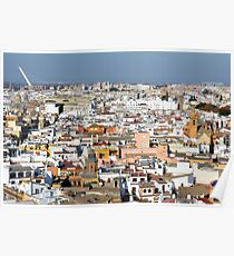 Panoramic view of Sevilla, Spain Poster