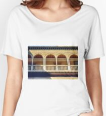 Arched portico in Sevilla, Spain with decorative elements Women's Relaxed Fit T-Shirt