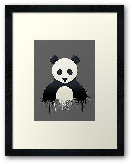 Panda Graffiti by Mark Walker