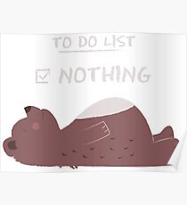 To do list: Nothing Poster