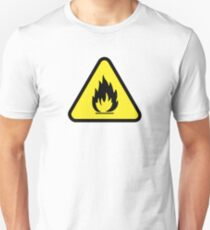 Flammable Caution Sign Unisex T-Shirt