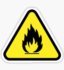 Flammable Caution Sign Sticker