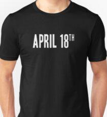 Jim Jefferies April 18th Shirt T-Shirt