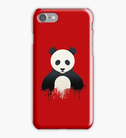 Panda Graffiti red iPhone Case/Skin