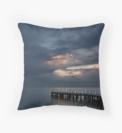 Light on Corio Bay,Portarlington Throw Pillow