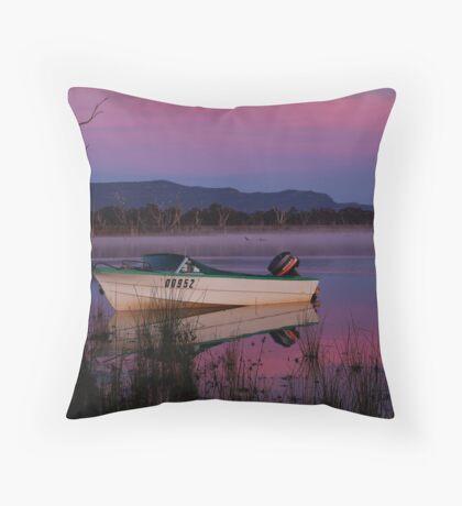 Mauve Tones, Lake Fyans Throw Pillow
