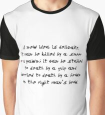 "A new idea... ""Ovid"" Inspirational Quote Graphic T-Shirt"