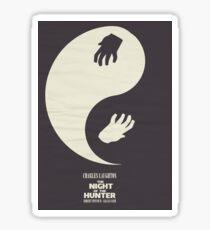 The Night of the Hunter, Fine Art Print, Movie Poster, Charles Laughton, Robert Mitchum, glicée, Alternative, Minimal, old film, classic Sticker