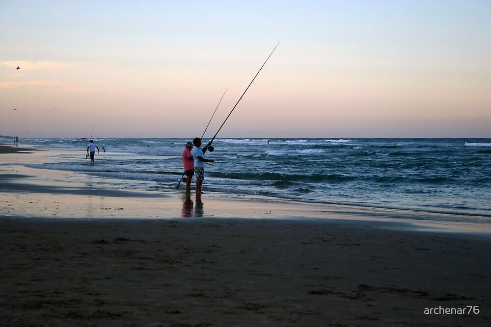 Coolum Beach fishing by archenar76