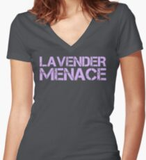 LAVENDER MENACE Women's Fitted V-Neck T-Shirt