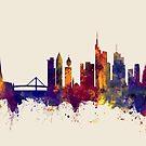 Frankfurt Germany Skyline by Michael Tompsett