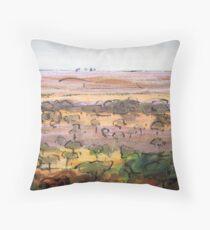 Outback Plains Throw Pillow