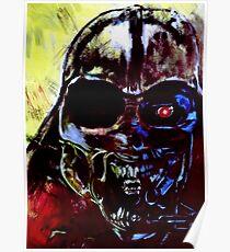 Darth Vader Alien Terminator Mashup Poster