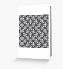Kitchen cutlery dark circles Greeting Card