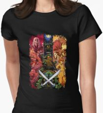 Teenage Mutant Ninja Turtle Cast  Womens Fitted T-Shirt