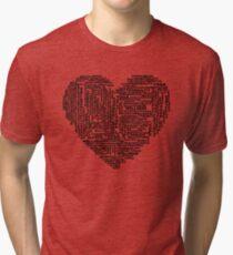 Yoga Love Word Cloud Black Tri-blend T-Shirt