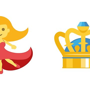 Dancing Queen Emoji Graphic by barrowandcole
