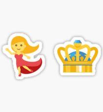 Dancing Queen Emoji Graphic Sticker