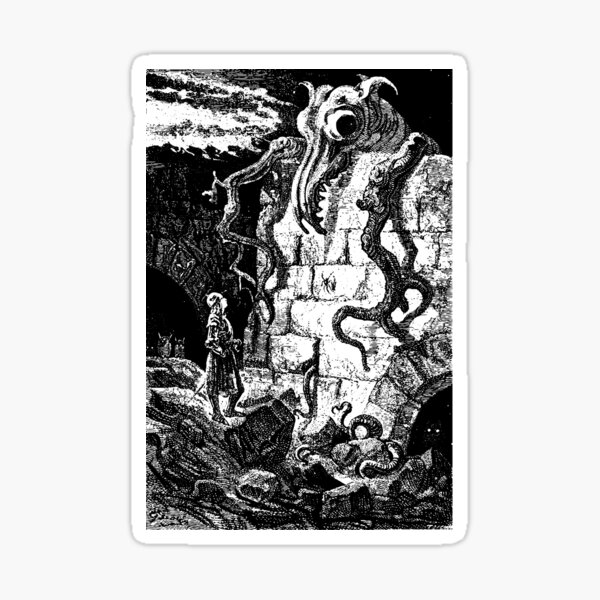 The Gnarled Monster Sticker
