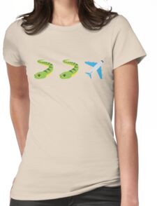 Snakes on a Plane Emoji Graphic Womens Fitted T-Shirt