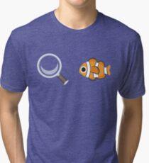 Clown Fish Emoji Graphic Tri-blend T-Shirt