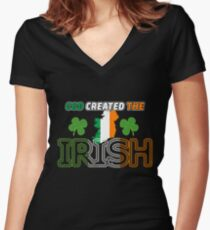 Irish, St Patricks Day, Irish Shirt, St Patricks Day Shirt Women's Fitted V-Neck T-Shirt