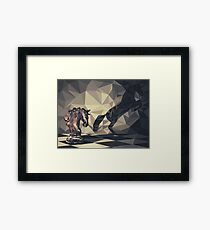 Knight Low Poly Framed Print