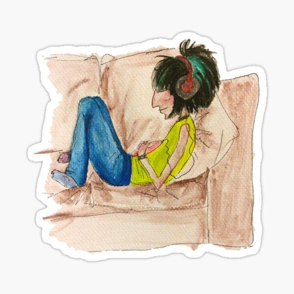Jones on the sofa Sticker