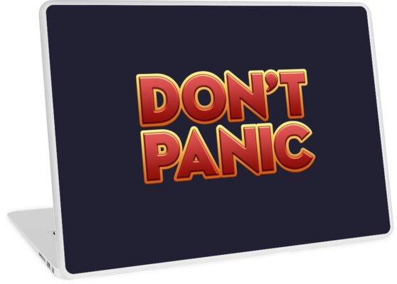 'Don't Panic' Laptop Skin by Twagger