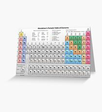 Mendeleev's Periodic Table of Elements Greeting Card