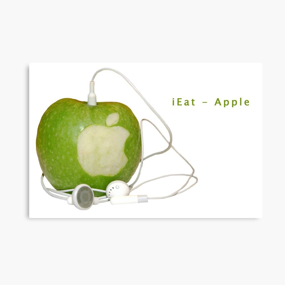 iEat - Apple Canvas Print