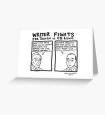 Writer Fights - Tolkien vs. Lewis Greeting Card